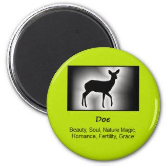 Doe Deer Totem Animal Spirit Meaning 6 Cm Round Magnet