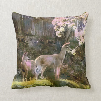 Doe, Fawn, Pear Tree American MoJo Pillow Cushion