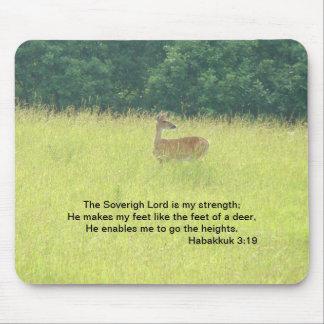 Doe: Habakkuk 3:19 Mouse Pad