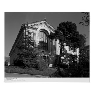 Doe Library, from the West, 1967 Poster