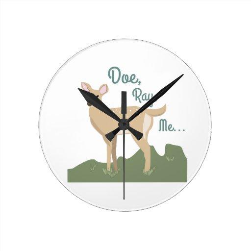 Doe, Ray, Me Round Wall Clock