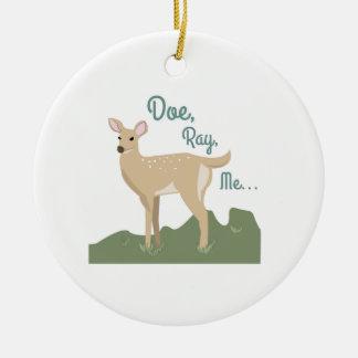 Doe, Ray, Me Christmas Tree Ornament