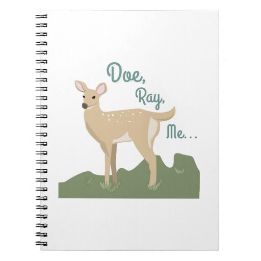 Doe, Ray, Me Spiral Note Books