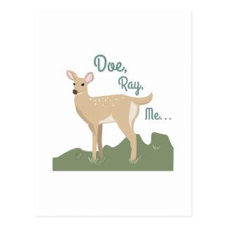 Doe, Ray, Me Postcard