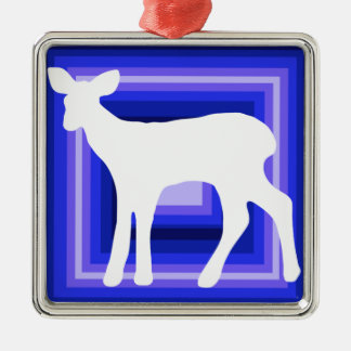 Doe silhouette holiday ornament square