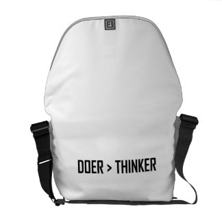 Doer Greater Than Thinker Courier Bags