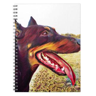 Doerman Swirl Paint 3 Notebooks