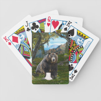 Does a bear...... bicycle playing cards