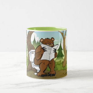 Does a Bear Crap In The Woods Two-Tone Coffee Mug