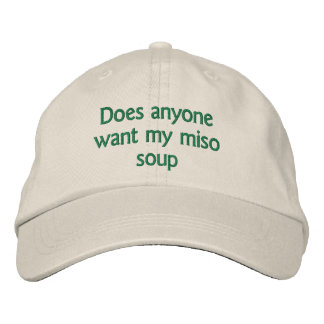 does anyone want my miso soup embroidered hat