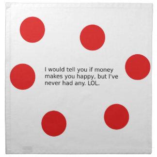 Does Money Make You Happy? Napkin