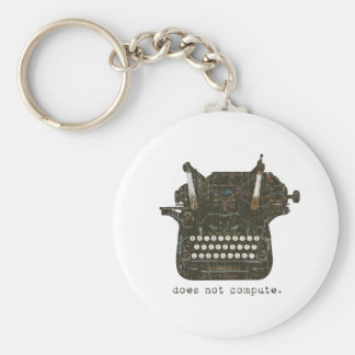 Does Not Compute Basic Round Button Key Ring