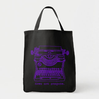 Does Not Compute (Purple) Grocery Tote Bag