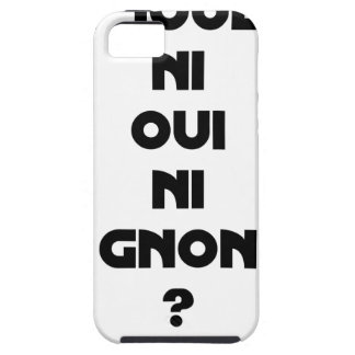 DOES ONE PLAY NEITHER NOR THUMP YES? - Word games Tough iPhone 5 Case