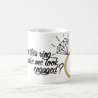 Does This Ring Make Me Look Engaged? Basic White Mug
