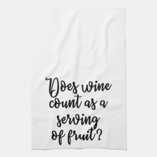 Does wine count as a serving of fruit Towel