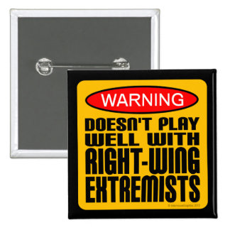 Doesn't Play Well With Right-Wing Extremists 15 Cm Square Badge