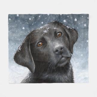 Dog 100 black Labrador Fleece Blanket