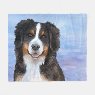 Dog 125 Bernese Mountain Fleece Blanket