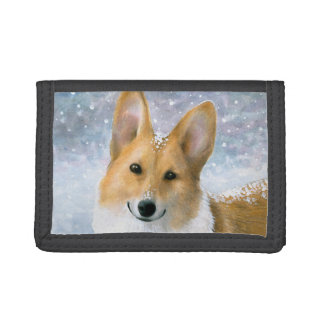 Dog 126 Corgi Trifold Wallets
