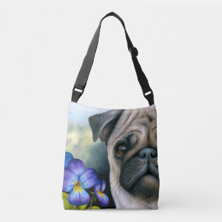 Dog 133 Pug all-over-print cross body bag