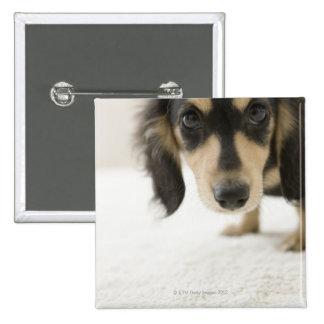 Dog 2 15 cm square badge