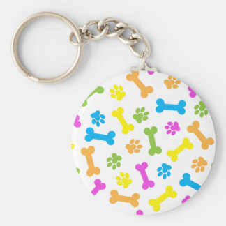 "Dog 2.25"" Basic Button Keychain"