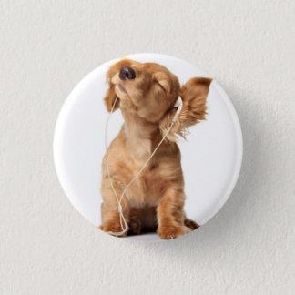 dog 3 cm round badge