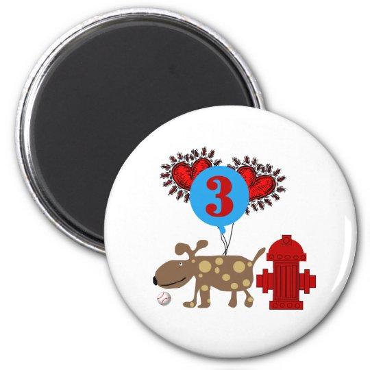 Dog 3rd Birthday Magnet