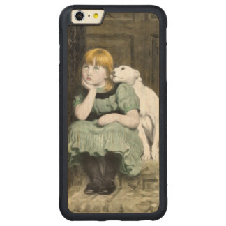 Dog Adoring Girl Victorian Painting Carved Maple iPhone 6 Plus Bumper Case