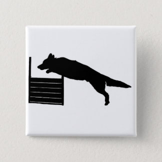 Dog Agility 15 Cm Square Badge