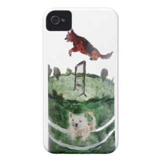 Dog Agility Painting iPhone 4 Cases