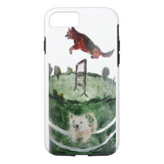 Dog Agility Painting iPhone 7 Case