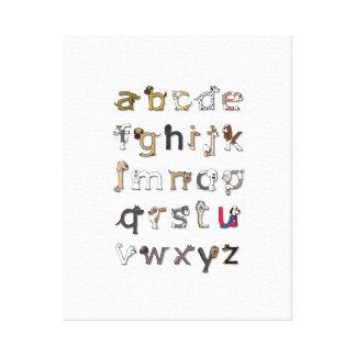 Dog Alphabet Canvas Print