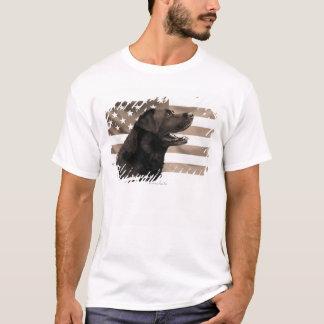 Dog and American flag T-Shirt