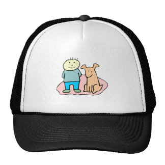 Dog And Boy Hat