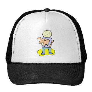Dog And Boy Trucker Hats