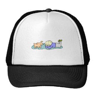 Dog And Boy Hats