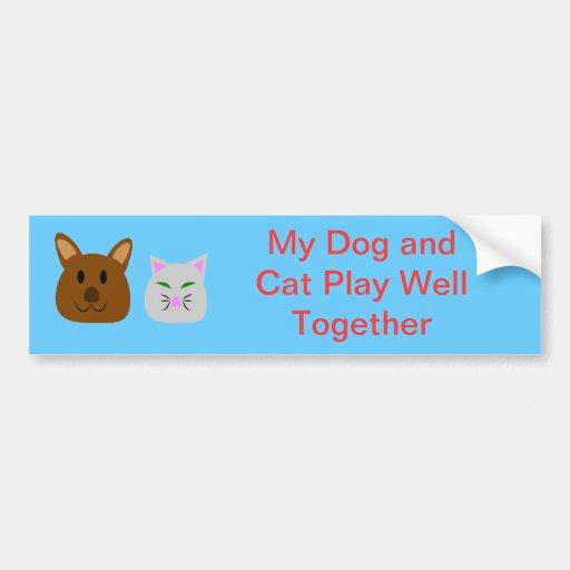 Dog and Cat Best Friend Bumper Sticker