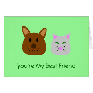 Dog and Cat Best Friend Greeting Card