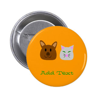 Dog and Cat Best Friend Pin