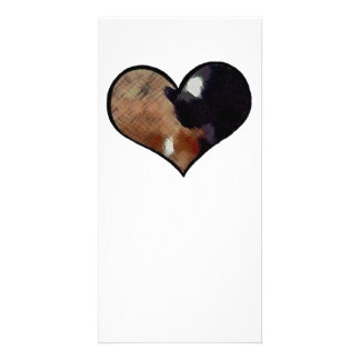 Dog and Cat Embrace in a Heart Shaped Yin Yang Photo Cards