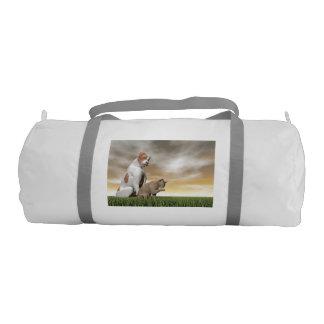 Dog and cat friendship - 3D render Gym Bag