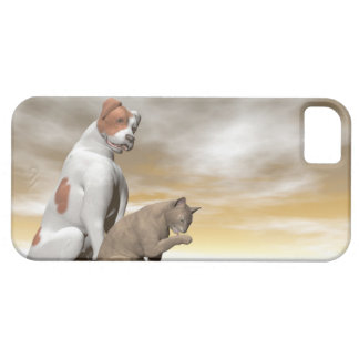 Dog and cat friendship - 3D render iPhone 5 Cover