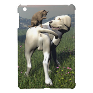 Dog and cat friendship iPad mini case
