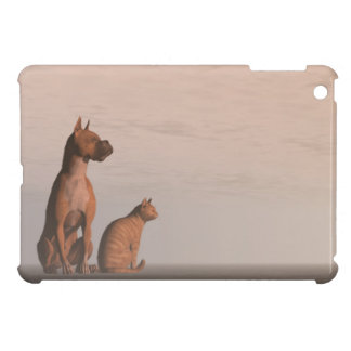 Dog and cat friendship iPad mini covers