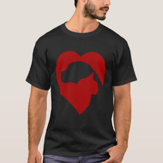 dog and cat heart shirt