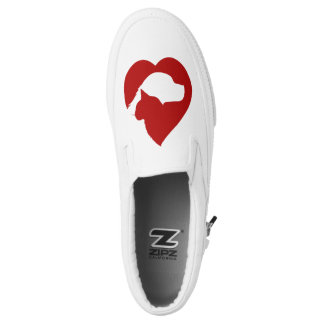 dog and cat heart shoes printed shoes