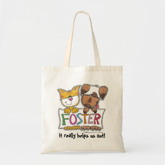 Dog and Cat Hold FOSTER Banner Tote Bag