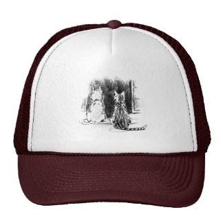 Dog and Cat Looking Out Window, Pet Sympathy Mesh Hat